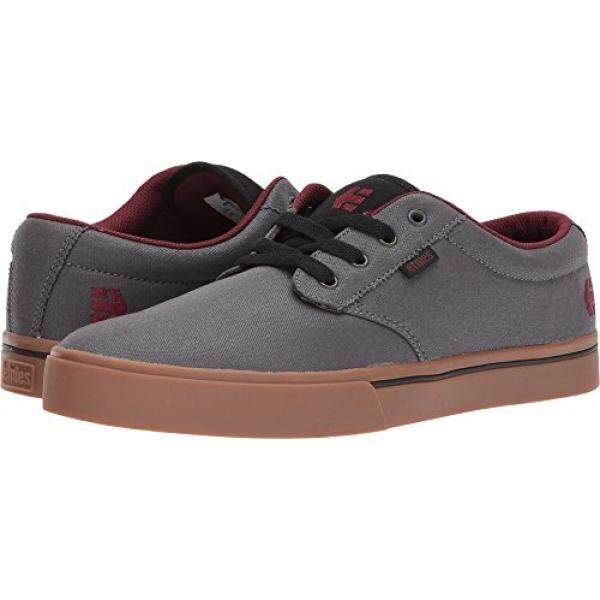 Etnies Mens Mens Jameson 2 Eco Skate Shoe, Grey/Gum/Red, edium US - intl