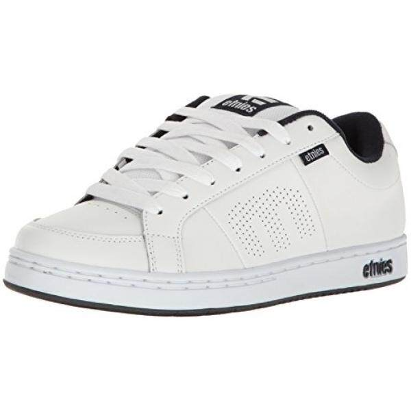 Etnies Mens Mens Kingpin Skate Shoe, White/Navy, edium US - intl
