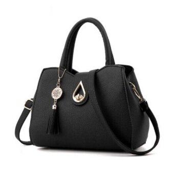 European Fashion Ladies Casual Shoulder Messenger Bag | Tote Bag |Backpack | Set Bag Collection - Black