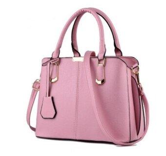 European Fashion Ladies Casual Shoulder Messenger Bag   Tote Bag   Backpack   Set Bag Collection - Rose
