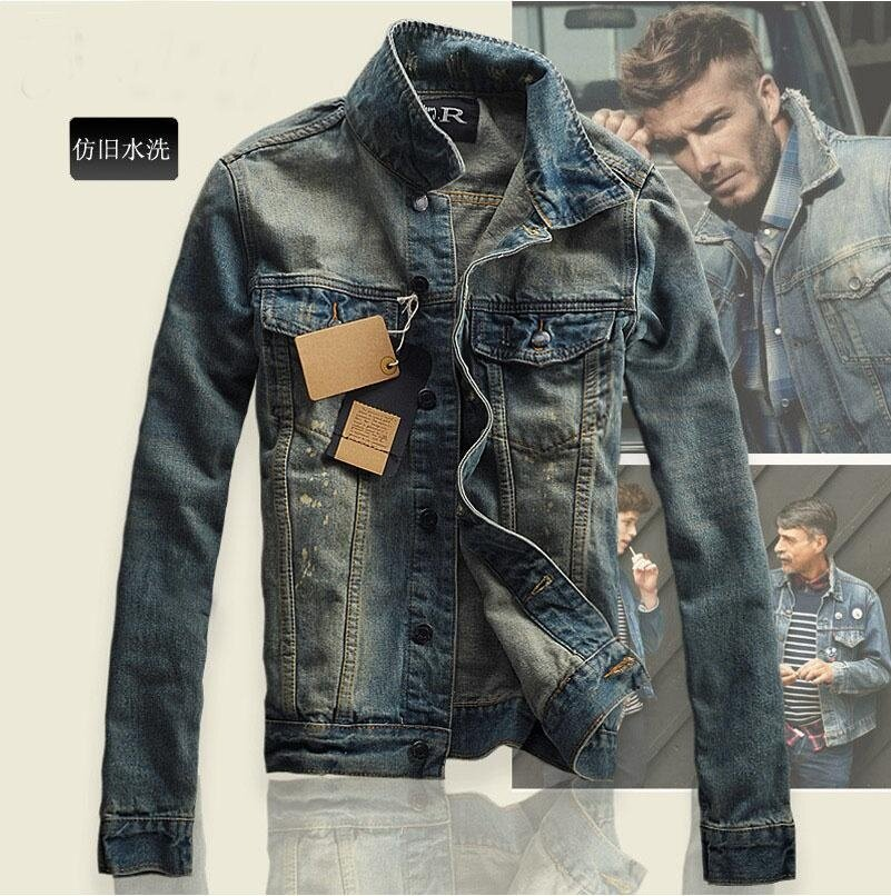 Features Korean Style Men Spring Denim Jacket 2018 Brand New Fashion