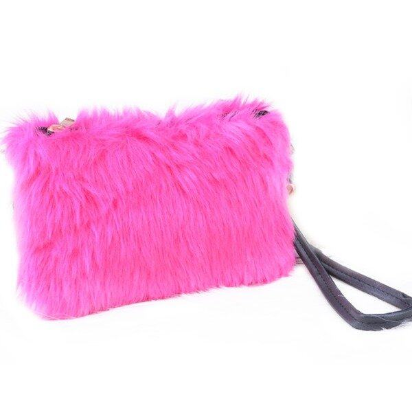 Elegant Dinner Fashion Premium Soft Fur Woman Clutch