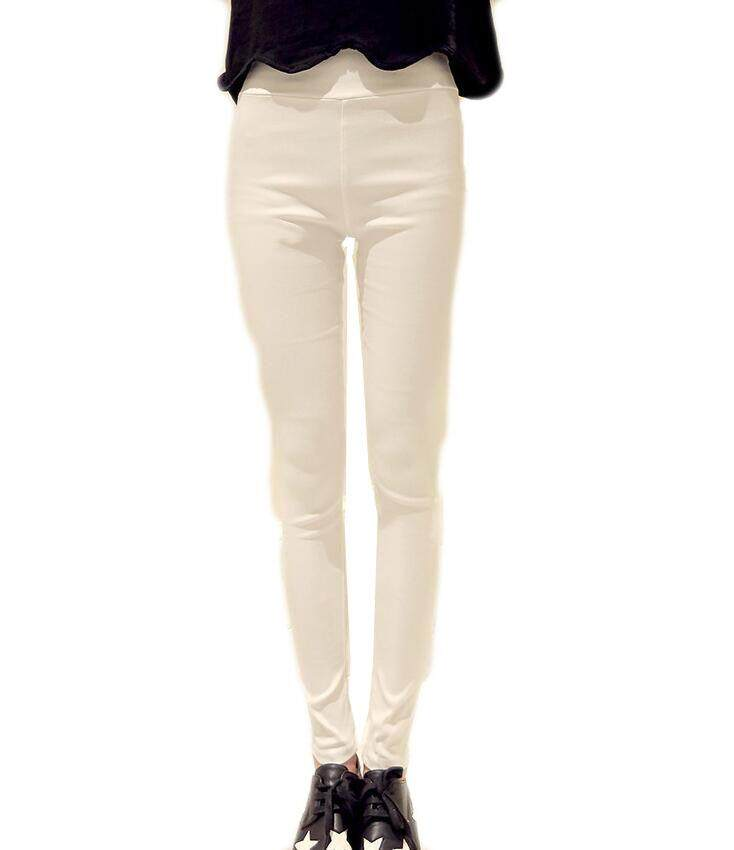 Fashion Women Casual Skinny Jeggings Pencil Pant Stretchy High Waist Trousers - intl