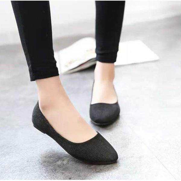 Fashion Women Flat Ballet Shoes Slip On Flats Boat Single Shoes Casual Loafers Summer - intl