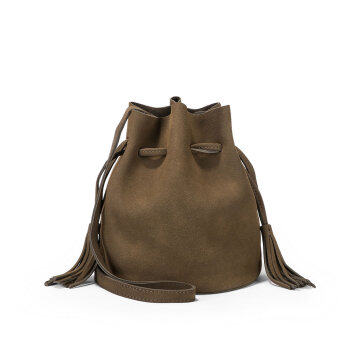 Harga Female casual women's bag bucket bag (Army green) (Army green)
