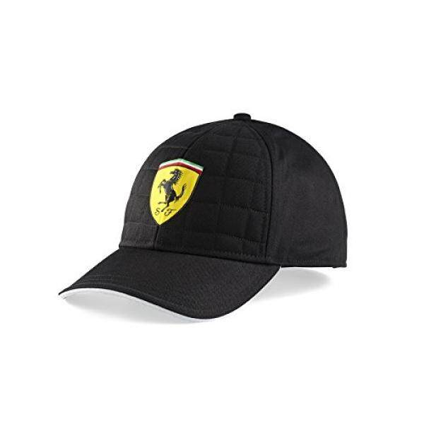 Ferrari Black Quilt Stitch Hat Cap Formula 1, Black, Adjustable, OSFA - intl