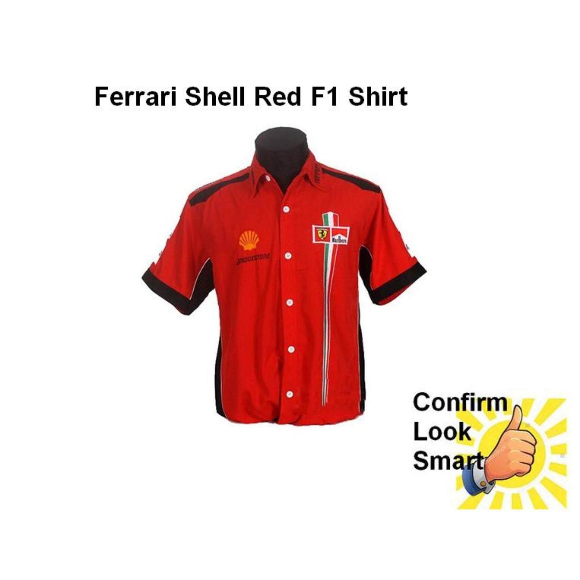 ferrari red uk sch schumacher michael shirt sis formula white