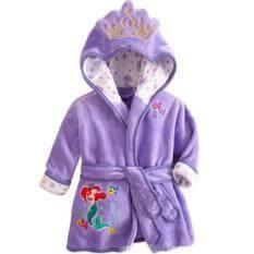 ขาย Flannel Boy Or G*rl Kid S 85 135Cm Body Height Soft Bath Sleepwear Cplor Purple ถูก จีน