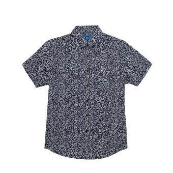 F.O.S NAVY & NAVY MEN NAVY FLORAL SHIRTS