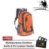 (RAYA 2019) Free Knight 45L Waterproof Travel Backpack Orange