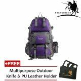 (RAYA 2019) Free Knight 50L Outdoor Hiking Backpack Purple