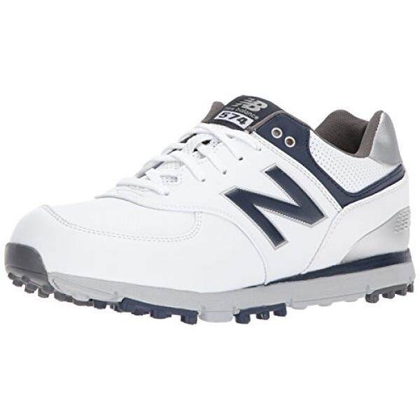 [From.USA]New Balance Mens 574 SL Golf-Shoes, White/Navy, 9 2E 2E US B074L5T8KW - intl