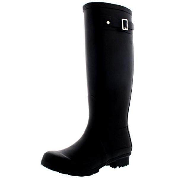 [. Amerika Serikat] Wanita Asli Tall Salju Musim Dingin Wellington Anti-Air Hujan Wellies-Hitam-8-39-CD0001 b00MDKU09G-Internasional