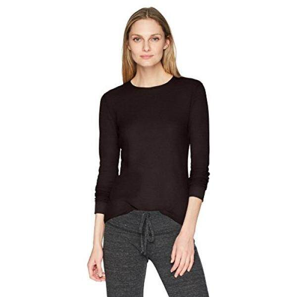 Fruit of the Loom Fruit of the Loom Womens Thermal Waffle Top, Black Soot, Large - intl