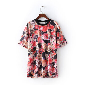 G17 outside the New Cabbage price New style Women's T-shirt European and American style cotton Loose and plus-sized short-sleeved shirt