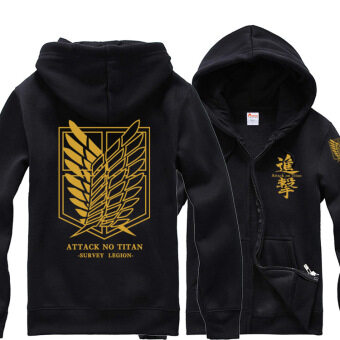 Harga Giant fleece Corps zip jacket hoodie (Gold) (Gold)