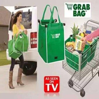 2pcs Grab Bag Reusable Shopping Bags TV PRODUCT clip-to-cart