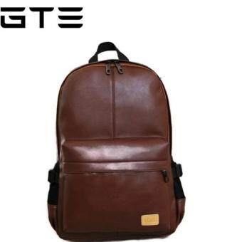 GTE Korean Style PU Leather Shoulder Backpack (Brown) | Lazada ...