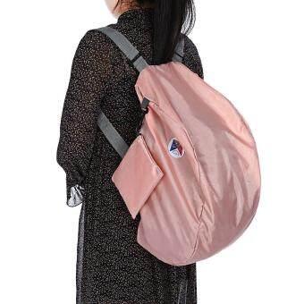 Guapabien Foldable Multiple Carry Ways Light Portable Travel Storage Bag (Papaya) - 2
