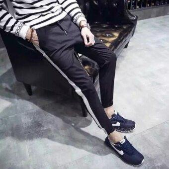 Han Fan son tide men's trousers (black) - 3
