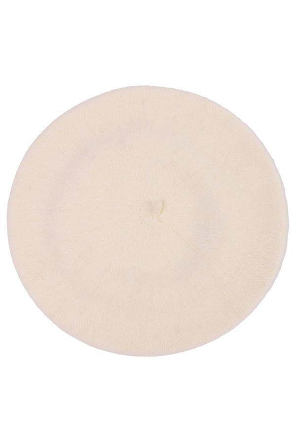 Hang Qiao Women Beret Cap Vintage Solid Color Beanie Hat Classic Berets White .