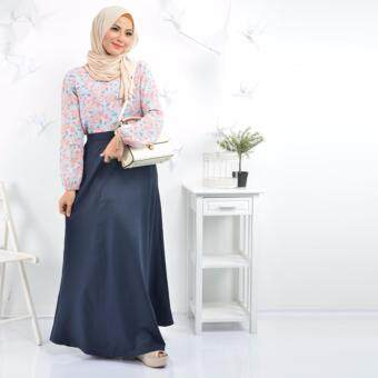 Haniya Flared A Line Skirt ( Dark Blue) - 2