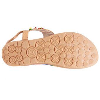 Hanyu Bohemian Style Women Sandals Beach Shoes Outdoor Yellow -Intl - 5