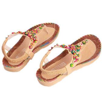 Hanyu Bohemian Style Women Sandals Beach Shoes Outdoor Yellow -Intl - 3