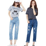 ส่วนลด Harem Pure Cotton Loose Style Beggar Pant Jeans Color First Pic