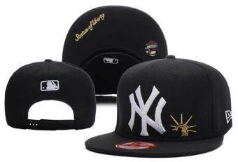 Harga Hats Fashion Caps Baseball Snapback Men's Women's New York YankeesSports MLB Beat-Boy Girls Ladies ( Black )