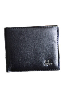 Hequ Fashion Mens Wallet Classic Wallet Leather Purse (Black)(Int:One size)