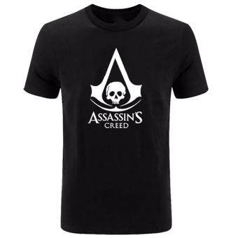 Harga Hequ Summer New Anime Game Assassin's Creed Printed T Shirt ShortSleeve Gamer Men T-Shirt  Black