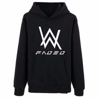 Harga Hequ The new Alan Walker DJ Alan Walker Hoodie sweater zipper setbass Faded the latest version of the luminous coat and tideBlack(Int:XXL)