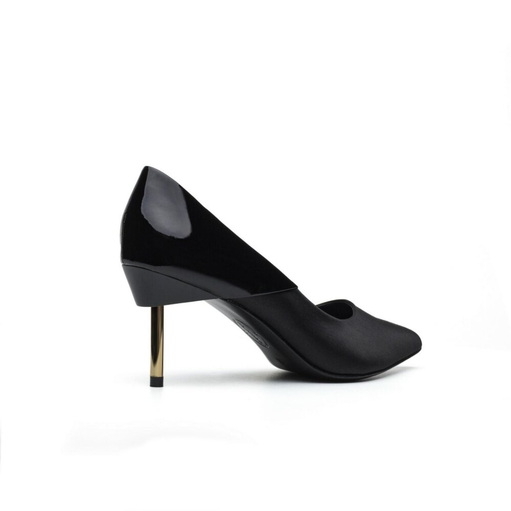 High Heel Shoe With Metal & Mirror