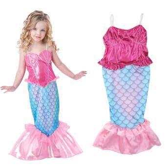 Hot Girl Kids Swimmable Mermaid Tail Bikini Swimsuit Swimming Costume