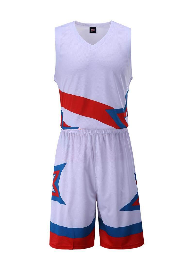 Jual Panas Pria Cepat Kering Latihan Keranjang Jersey Kemeja dan Celana Pendek Permainan Seragam-812-Internasional