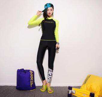 Harga Hot Spring female swimsuit fluorescent surf yoga clothesthree-piece