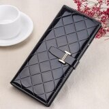 WLT-066 HS-3636-5 Woman Large Capacity Card Phone Holder Lady Wallet Purse [Black]