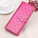 WLT-066 HS-3636-5 Woman Large Capacity Card Phone Holder Lady Wallet Purse [Rose]