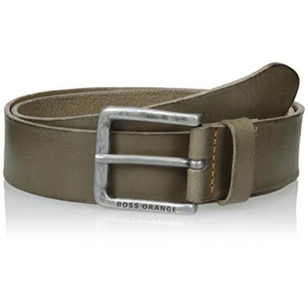 Hugo Boss Boss Orange Mens Jeek Leather Belt, medium grey, 34 - intl