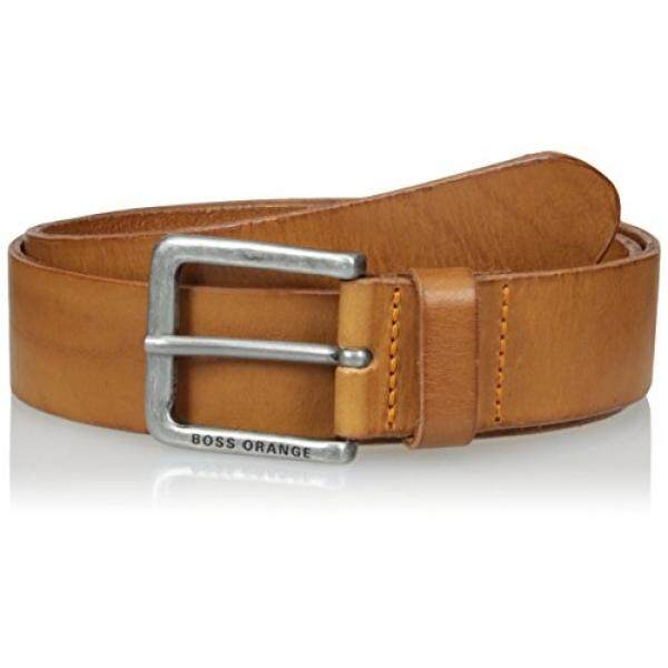 HUGO Hugo Boss HUGO Hugo Boss Mens Jeek Leather Belt Accessory, - brown, 30 US- 80 EU - intl