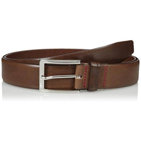Hugo Hugo Boss Mens C-gerron-n Leather Belt, medium brown, 32 - intl
