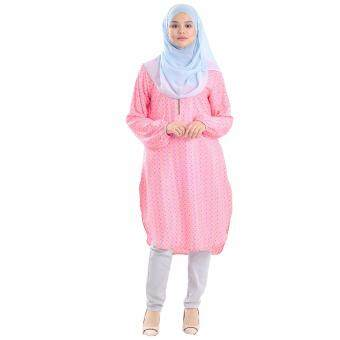 Harga Cotton & Silk - Blouses - Top - Tunic - Bella - 502 (Stargazing 2) - French Crepe Silk - Bella Tunic Blouse - G4 (Pink)