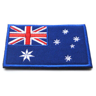 Harga Flag of Australia Australian Aussie Oz Down under Applique Iron-on Patch