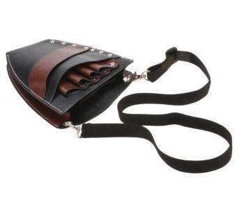Harga MG Faux Leather Barber Scissors Hairdressing Kit Bag with Shoulder Waist Belt Case Holder Rivet Clips Bag