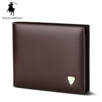 Harga British POLO Men's Purse 2016 New Leather Hand Bag Men's Business Short Wallet Short