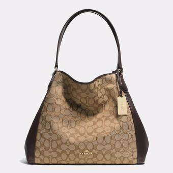 Harga Coach Signature Edie Shoulder Bag (Brown)