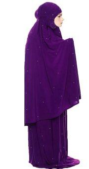 Harga Hijabera - Starletz telekung with crystal studs for adults (Violet)