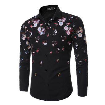 Harga Spring fashion men long sleeve shirt