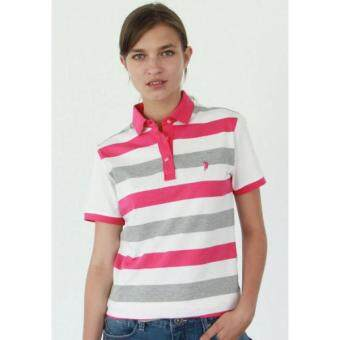Harga Polo Haus - Engineering Polo Tee with Stripe Design (Pink)
